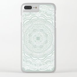 Dedication to Lucy (sage) Clear iPhone Case