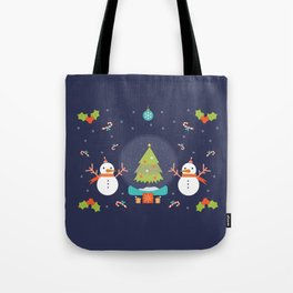 Frosty meets his match Tote Bag