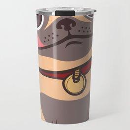 Cartoon Hungry Dog Travel Mug