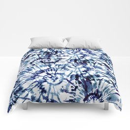 Blue Dye and Tie Comforters
