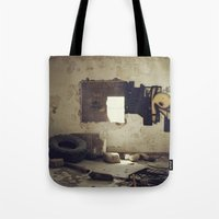 misfits Tote Bags featuring Misfits by nonbeliever_