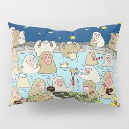 Snow Monkeys in Hot Spa Pillow Sham