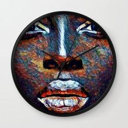 Colored Woman Wall Clock