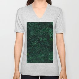Fresh Tropical Greenery (Color) Unisex V-Neck