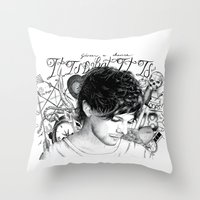 tattoos Throw Pillows featuring Tattoos - L by wreckthisjessy