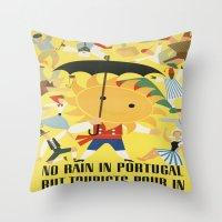 portugal Throw Pillows featuring Portugal by Kathead Tarot/David Rivera