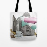 led zeppelin Tote Bags featuring Zeppelin by Pepper / Shop