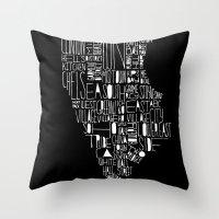 manhattan Throw Pillows featuring Manhattan by Robert Farkas