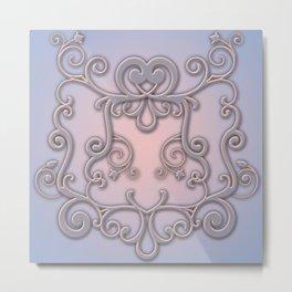 Rose Quartz Serenity Enblem Metal Print