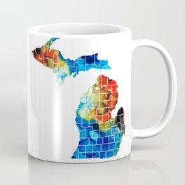 Michigan State Map - Counties by Sharon Cummings Coffee Mug