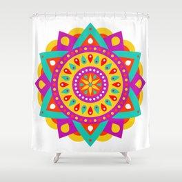 Mandala Yoga Massage Meditation Esoteric Symmetrical Art Gift Shower Curtain