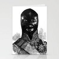 wrestling Stationery Cards featuring Wrestling mask 1 by DIVIDUS
