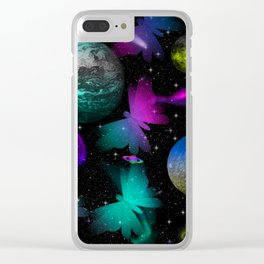 space butterflies vb Clear iPhone Case