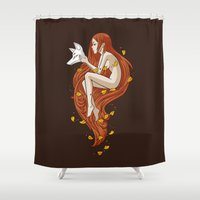 anime Shower Curtains featuring Kitsune by Freeminds