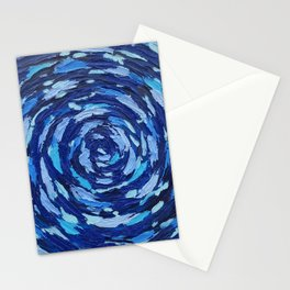 dark blue abstract Stationery Cards