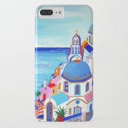 Santorini churches Greek Islands iPhone Case