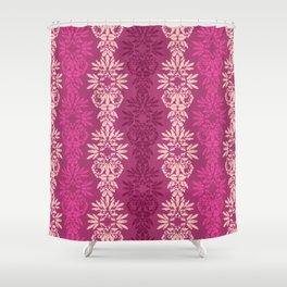 Batik Damask_Pink Shower Curtain