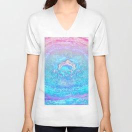 Ether Agate Geode Unisex V-Neck