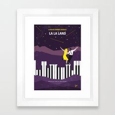 No756 My La La Land minimal movie poster Framed Art Print