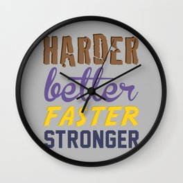 Harder Better Faster Stronger Wall Clock