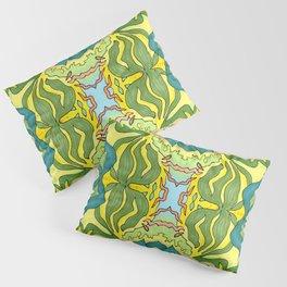 Lettuce Bloom Kaleidoscope Pillow Sham