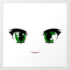 Anime face Art Print