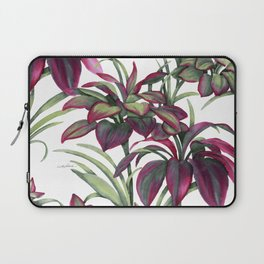 Tropical Leaves Sing Laptop Sleeve