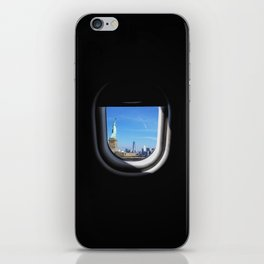 Manhattan and Statue of Liberty from my Seat iPhone Skin