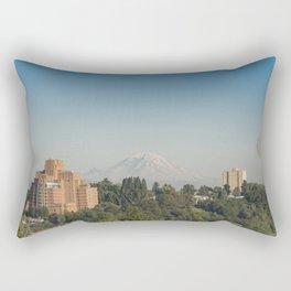 Mount Rainier in Summer Rectangular Pillow