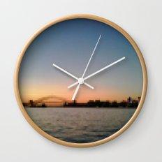 Sydney Harbour Pixels No.1 Wall Clock
