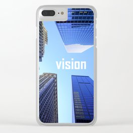 Vision and Buildings Clear iPhone Case