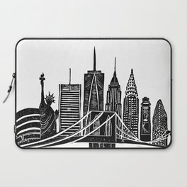 Linocut New York Laptop Sleeve