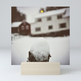 Winterday in Norway Mini Art Print