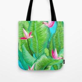 Banana Floral Tote Bag