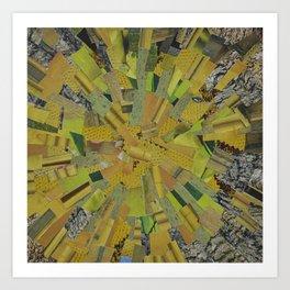 """The Green Energy"" Ecologic atypic art by WHITEECO Ecologic design Art Print"