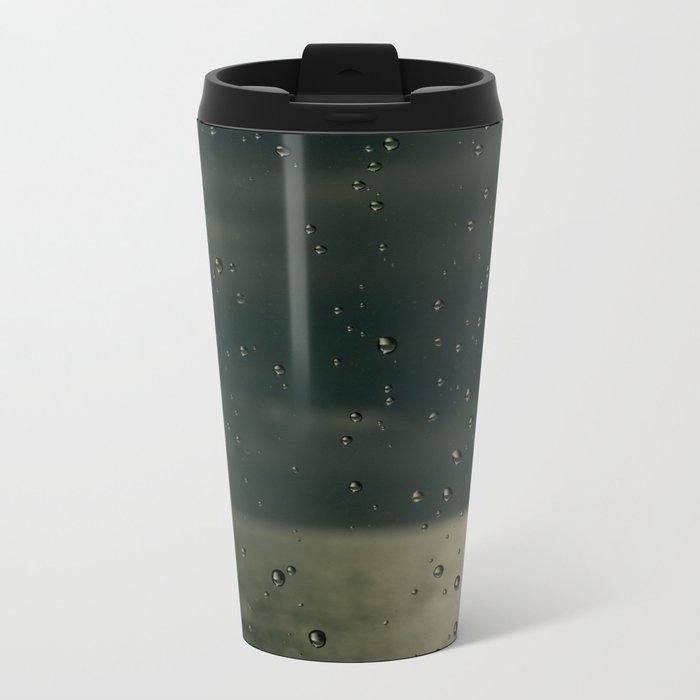 Screaming in the rain Metal Travel Mug