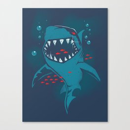 Shark grill Canvas Print