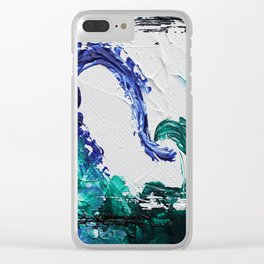 Mini Series [Musical Waves - Oceanic] Clear iPhone Case