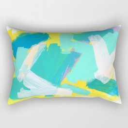 Be Kind, Be OK - mint modern mint abstract painting pastel colors Rectangular Pillow