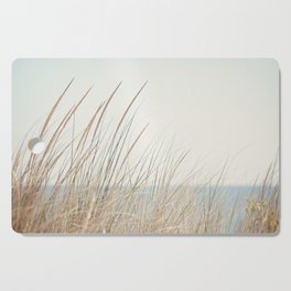 Beach Grass Photography, Calming Coastal Photo Print, Relaxing Beach House Photograph, Seaside Photo Cutting Board