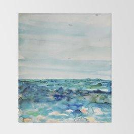 Miami Beach Watercolor #8 Throw Blanket