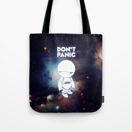 Don't Panic Marvin Tote Bag