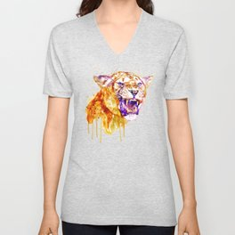 Angry Lioness Unisex V-Neck
