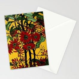 """WheelFlower"" Woodcut by Margaret Preston Stationery Cards"