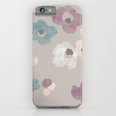 Watercolor Blooms - in Taupe iPhone 6s Slim Case