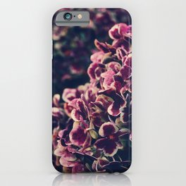 Hydrangea Flowers - Deep Purple iPhone Case