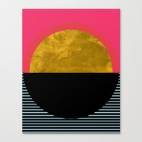 georgiana paraschiv Canvas Prints featuring Abstract Sunset by Georgiana Paraschiv