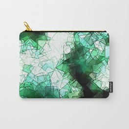 square fantasy snow in the treetops Carry-All Pouch
