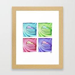 Under the Curl Framed Art Print