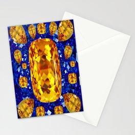 October Topaz & Blue Sapphire September Birthstone Gems Stationery Cards